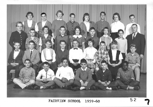 Fairview Elementary School class photo of 7th grade 1959-60, submitted by Dan Wolfe FHS Class of '65