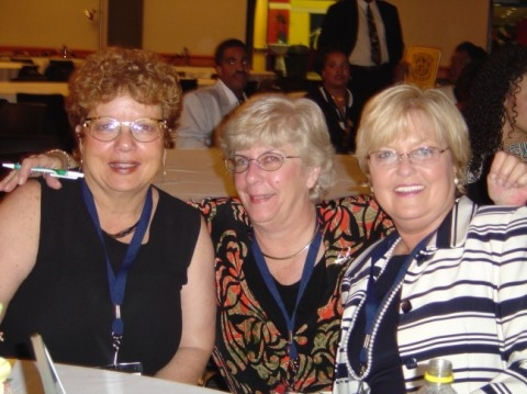 Barb Adkins '64, Nancy Marker '66 and Barrie Fogarty '65.
