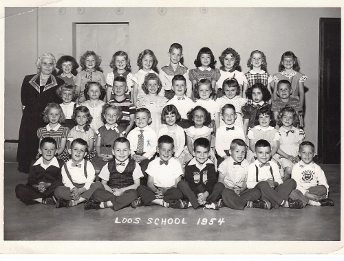 Kindergarten 1954, Loos Elementary School, submitted by Bill Bridges, FHS class of '66