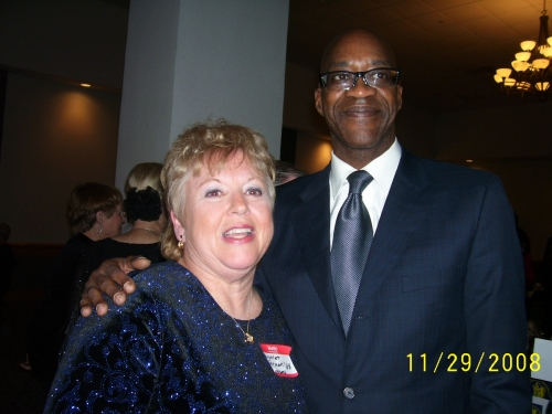 Margaret Kerman, class of '68, and Edwin C. Moses, class of '73. Edwin as many remember is the 1976 Olympic Gold Medal