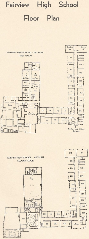 Floor plan included in the 1962 'Welcome You' booklet.