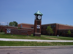 The new Fairview Commons PK-8 School is located at Hillcrest and Elsmere. Photo by Alan Gaines, FHS Class of '66, May 2