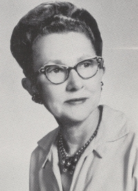 Photo of Theresa Folger taken from the 1958 Fairview yearbook.