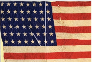 United States 48 Star Flag. Photo courtesy  of Dayton Public Schools Time Capsule Collection, Digitized by Vtechgraphics