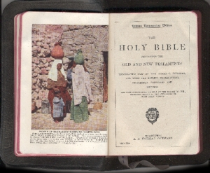 The Holy Bible. Showing pages 49 & 50. Photo courtesy of Dayton Public Schools Time Capsule Collection, Digitized by Vte