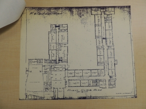 Blueprint dated 6-25-1954. Photo Dennis Huddleston, Class of 1965. Click on any photo to enlarge for better viewing.