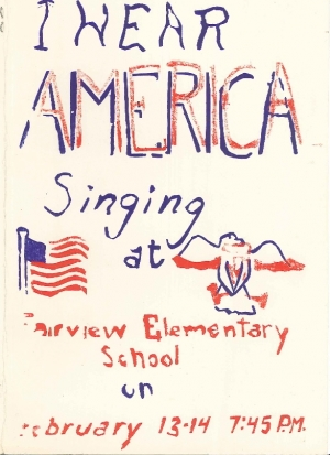 Thanks to Jim McLefresh for this program from a Fairview Elementary School production.  Shown above is the cover.